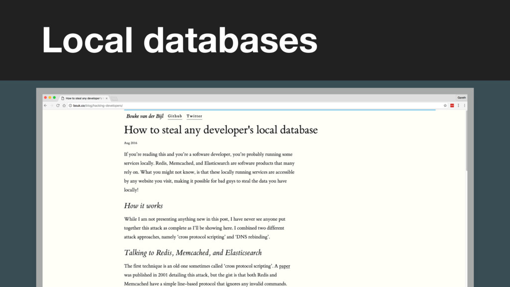 Local databases