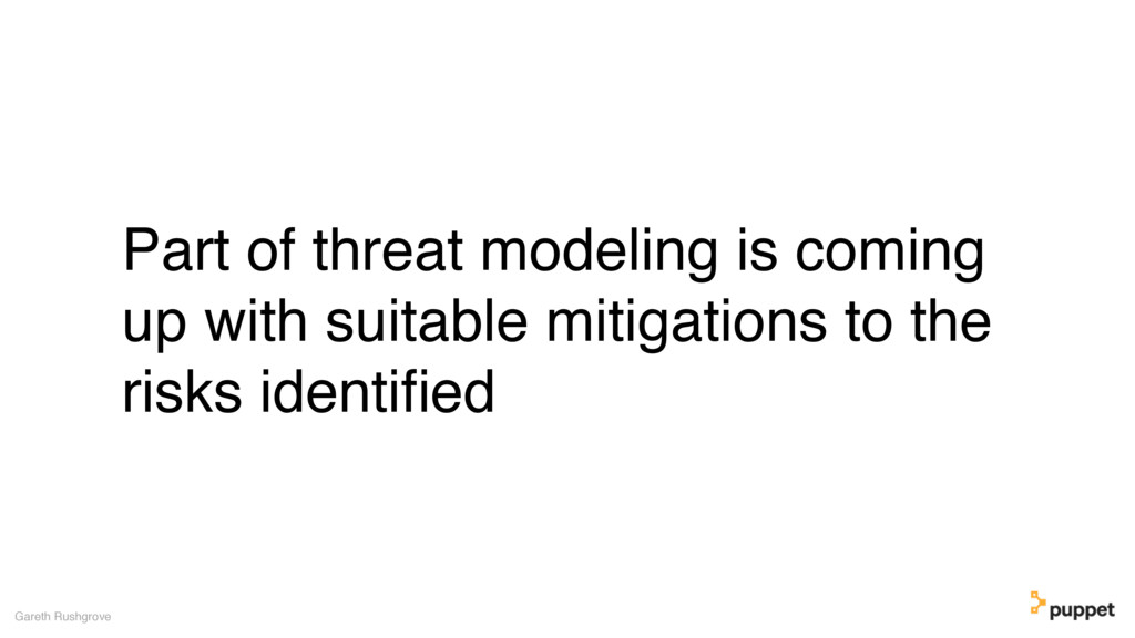 Part of threat modeling is coming up with suita...