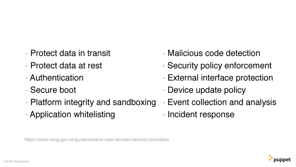 - Protect data in transit - Protect data at res...