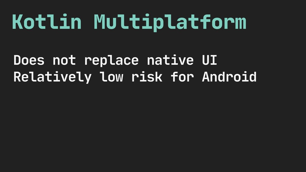 Kotlin Multiplatform Does not replace native UI...