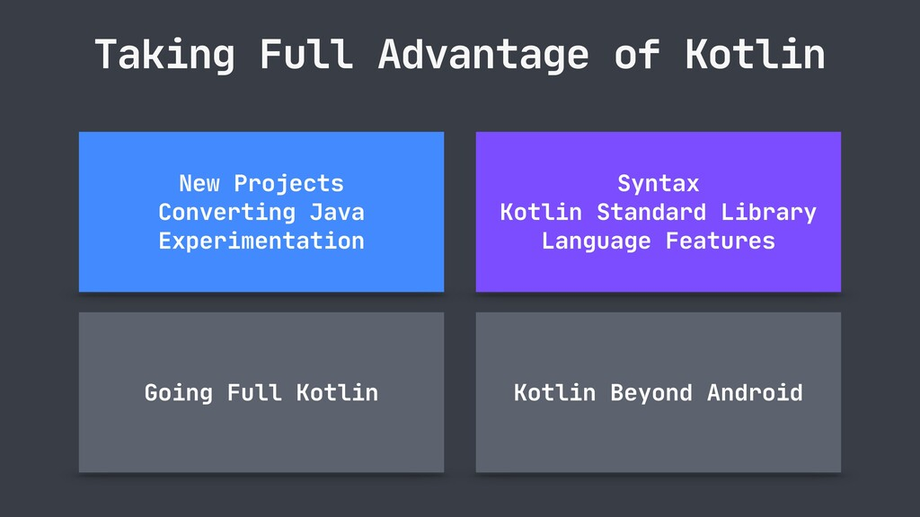 Taking Full Advantage of Kotlin Going Full Kotl...