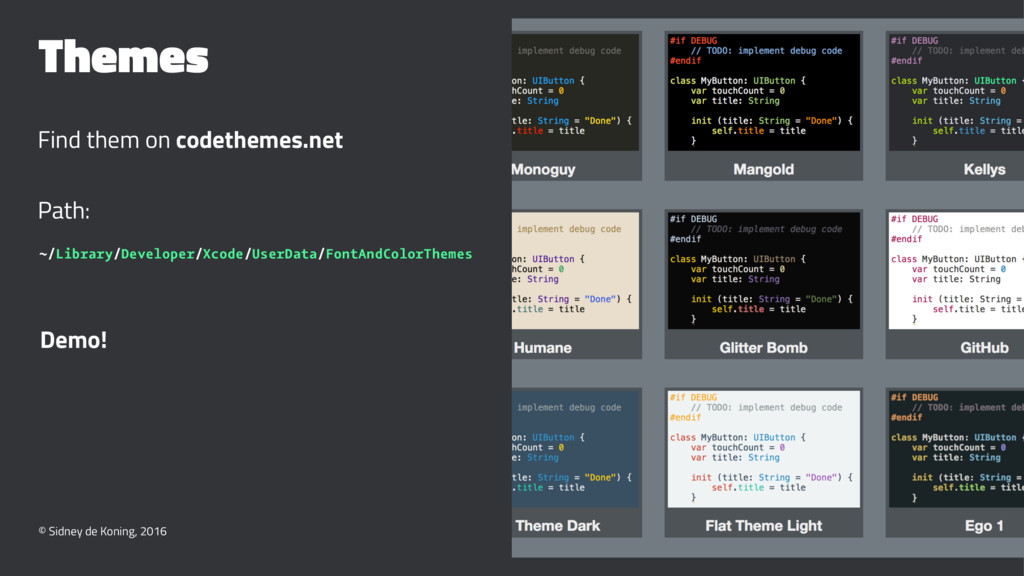 Themes Find them on codethemes.net Path: ~/Libr...