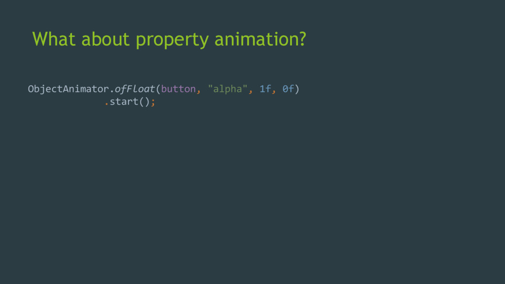 What about property animation? ObjectAnimator.o...