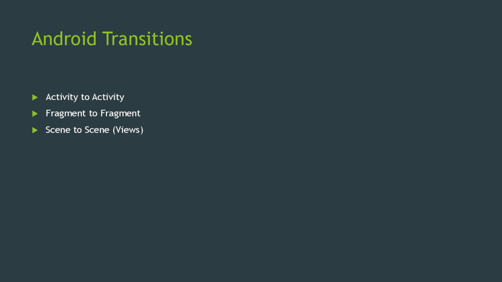 Android Transitions  Activity to Activity  Fr...