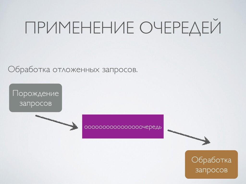 ПРИМЕНЕНИЕ ОЧЕРЕДЕЙ Обработка отложенных запрос...