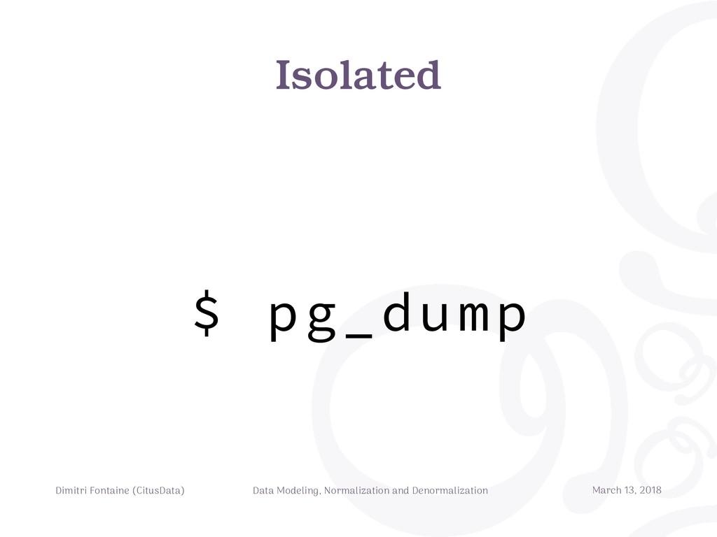 Isolated Dimitri Fontaine (CitusData) Data Mode...