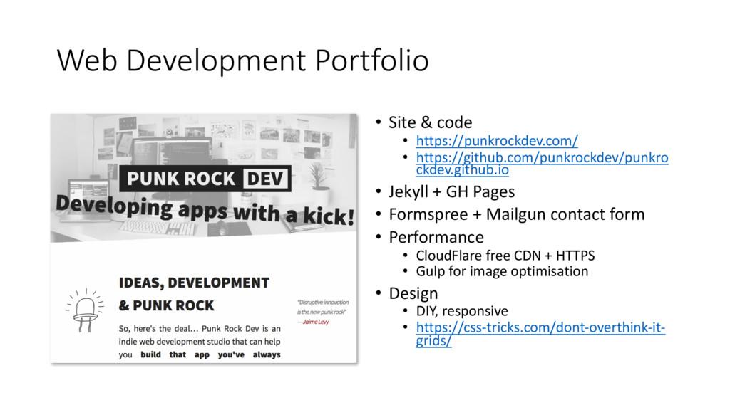 Web Development Portfolio • Site & code • https...