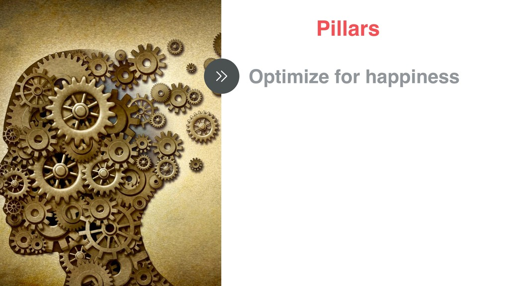 Pillars Optimize for happiness