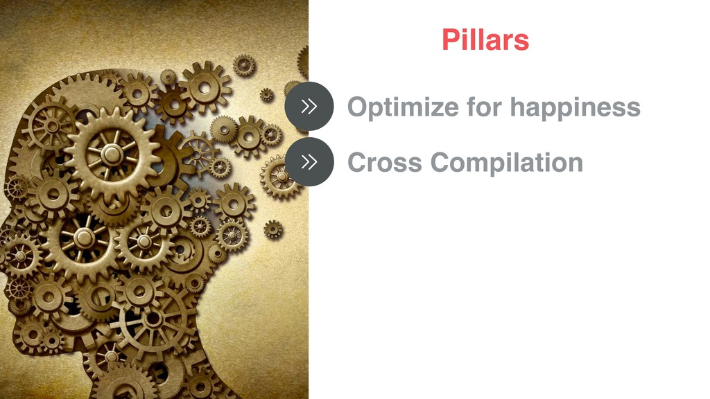 Pillars Optimize for happiness Cross Compilation