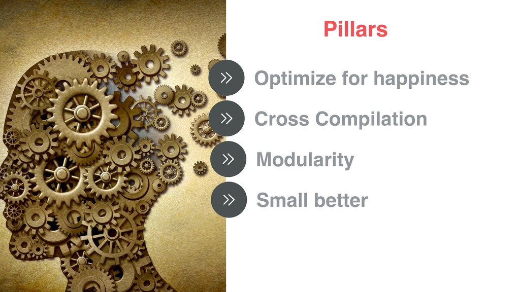 Pillars Optimize for happiness Cross Compilatio...