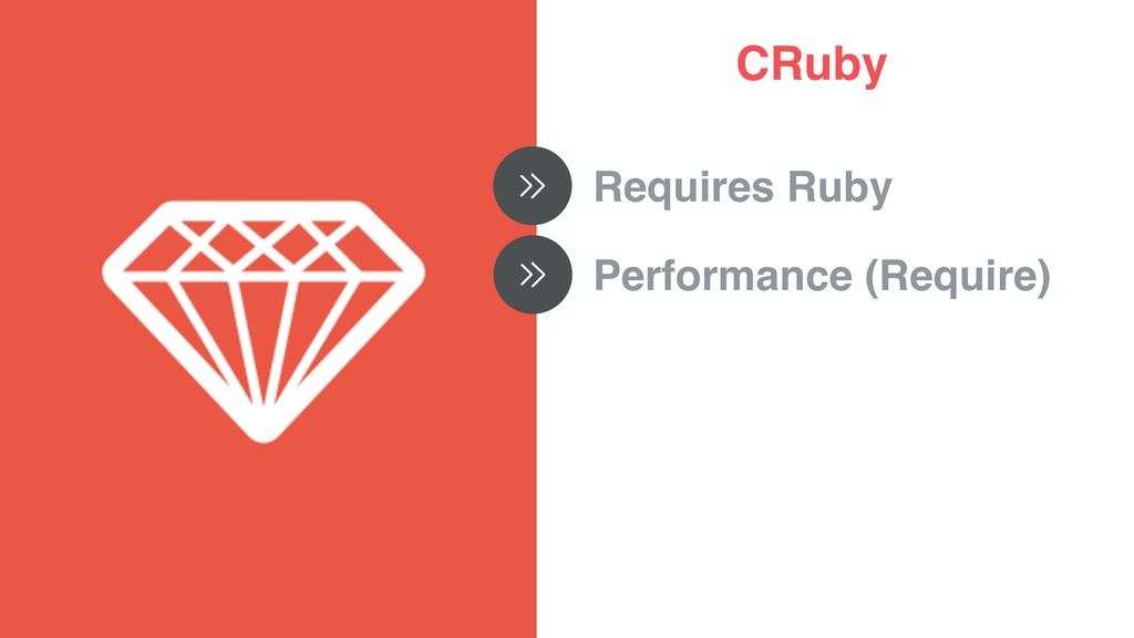 CRuby Requires Ruby Performance (Require)
