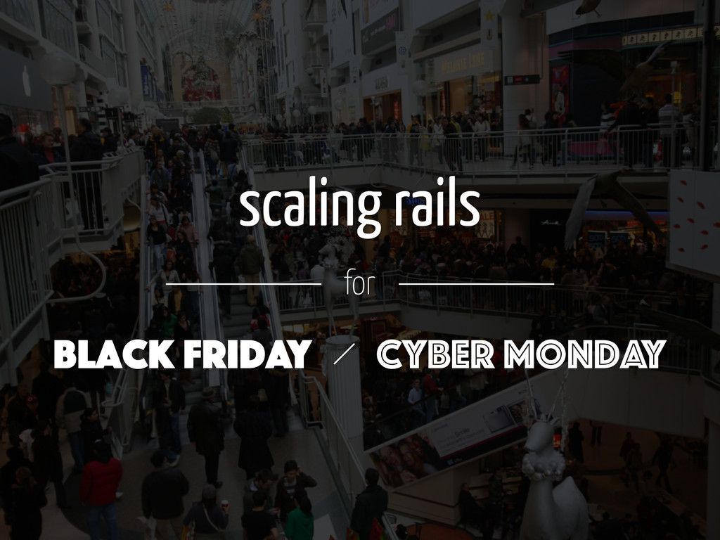 scaling rails for Black Friday Cyber Monday