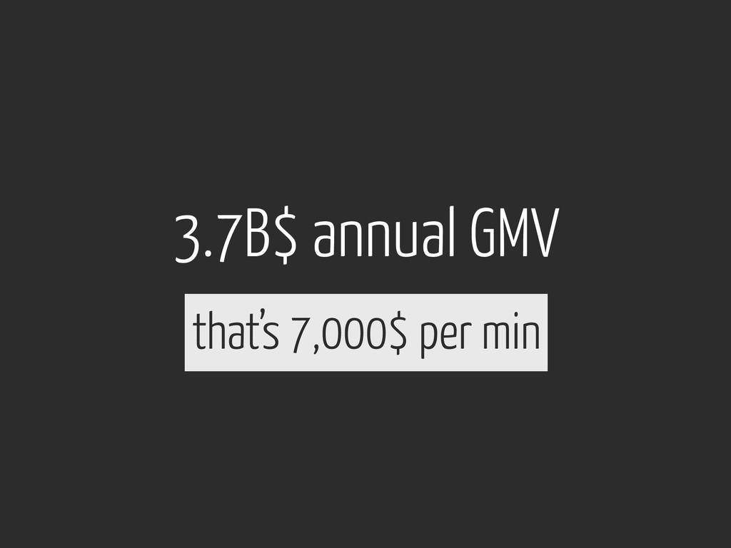 3.7B$ annual GMV that's 7,000$ per min