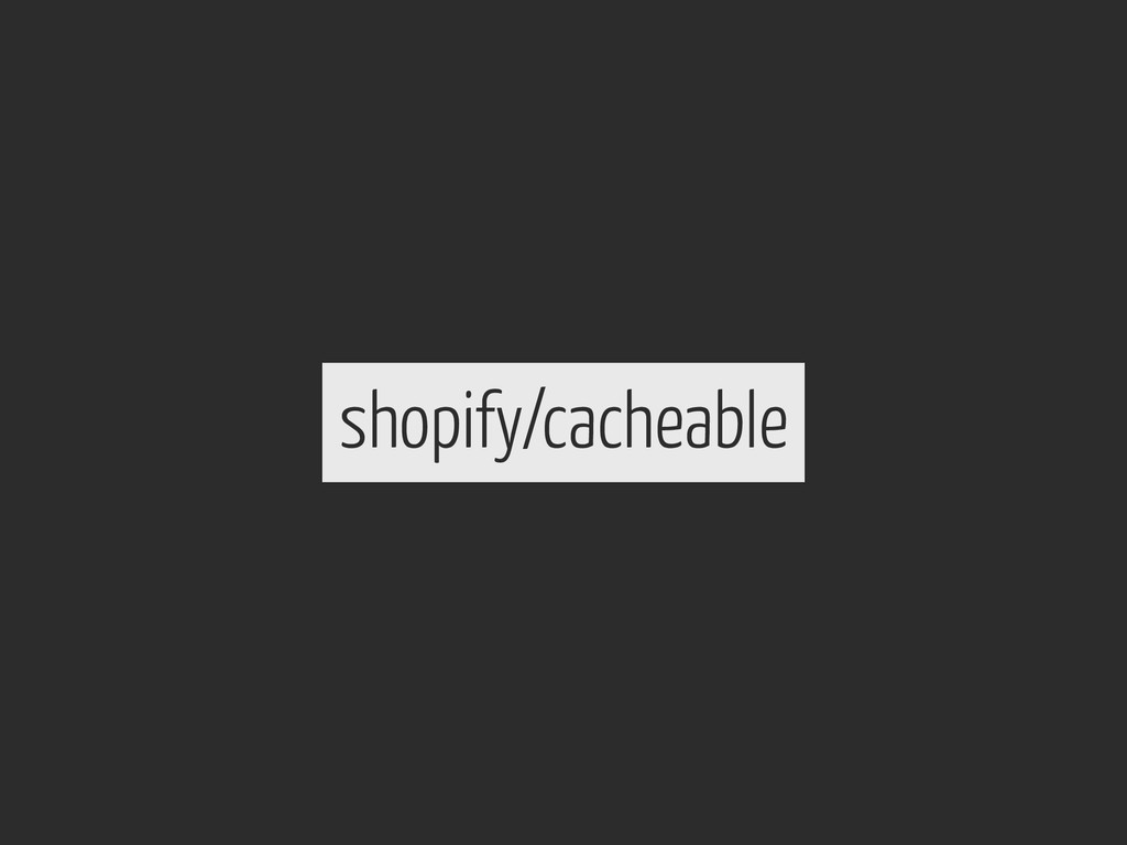 shopify/cacheable