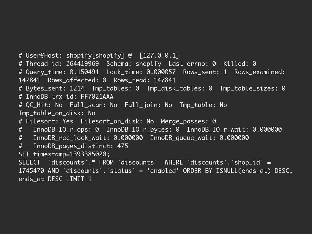 # User@Host: shopify[shopify] @ [127.0.0.1] # T...