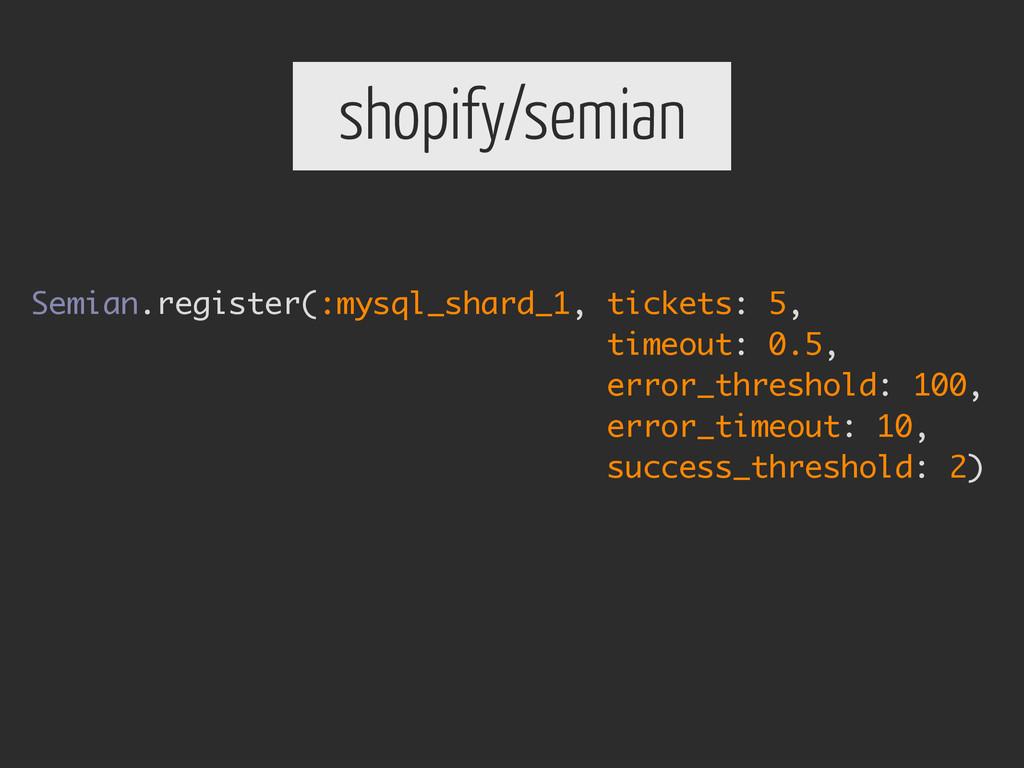 shopify/semian Semian.register(:mysql_shard_1, ...