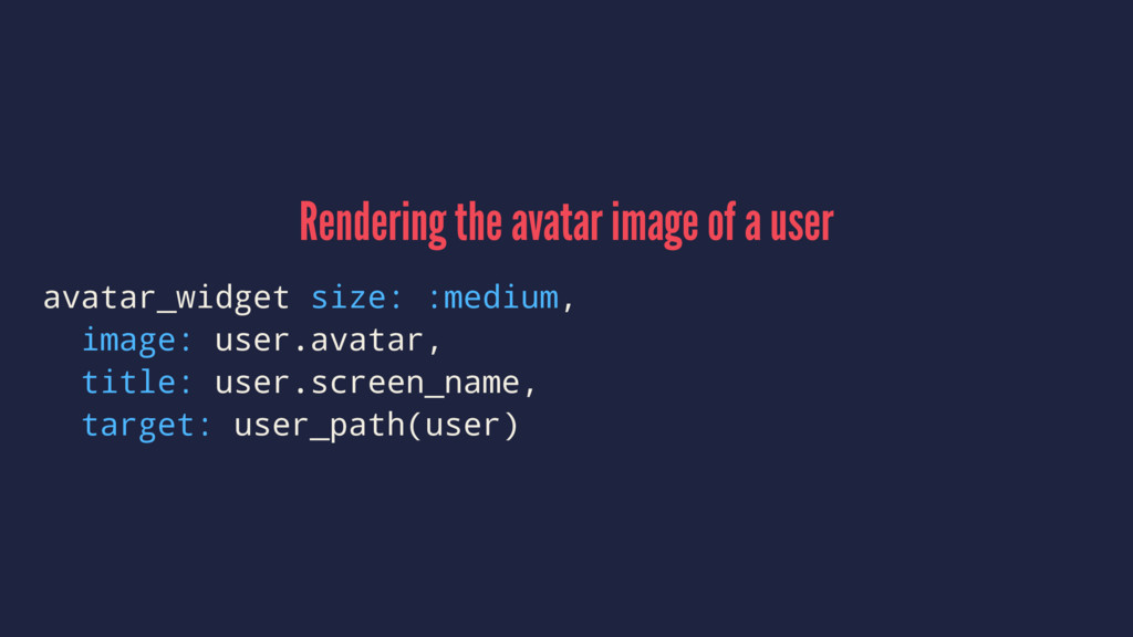 Rendering the avatar image of a user avatar_wid...