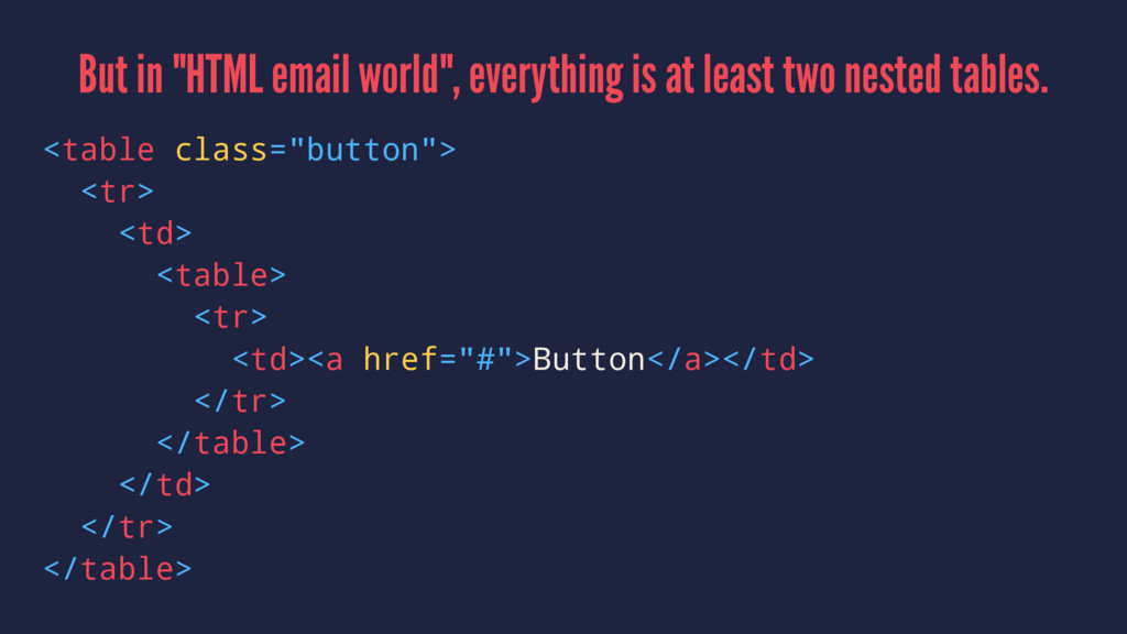 "But in ""HTML email world"", everything is at lea..."