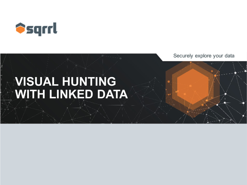 Securely explore your data VISUAL HUNTING ...