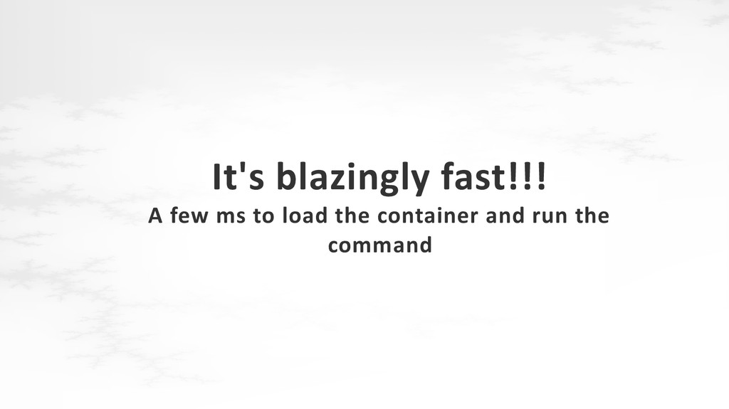 It's blazingly fast!!! A few ms to load the con...
