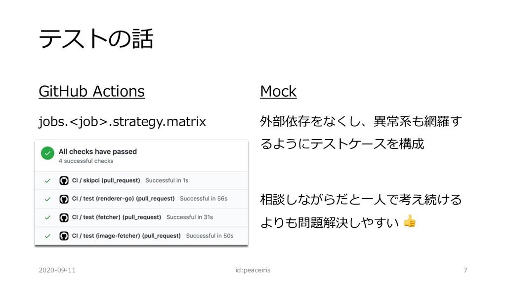 テストの話 GitHub Actions jobs.<job>.strategy.matrix...