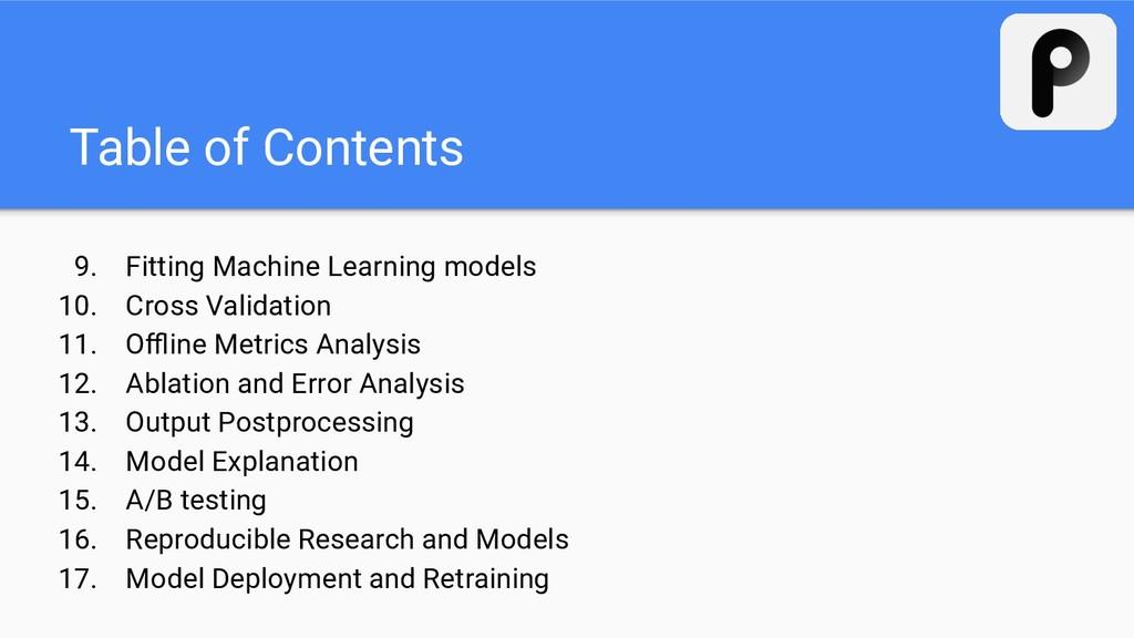 9. Fitting Machine Learning models 10. Cross Va...