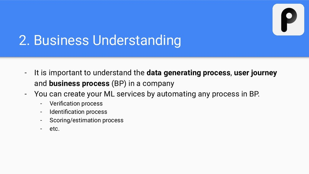 2. Business Understanding - It is important to ...