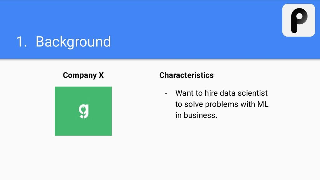 1. Background Company X Characteristics - Want ...