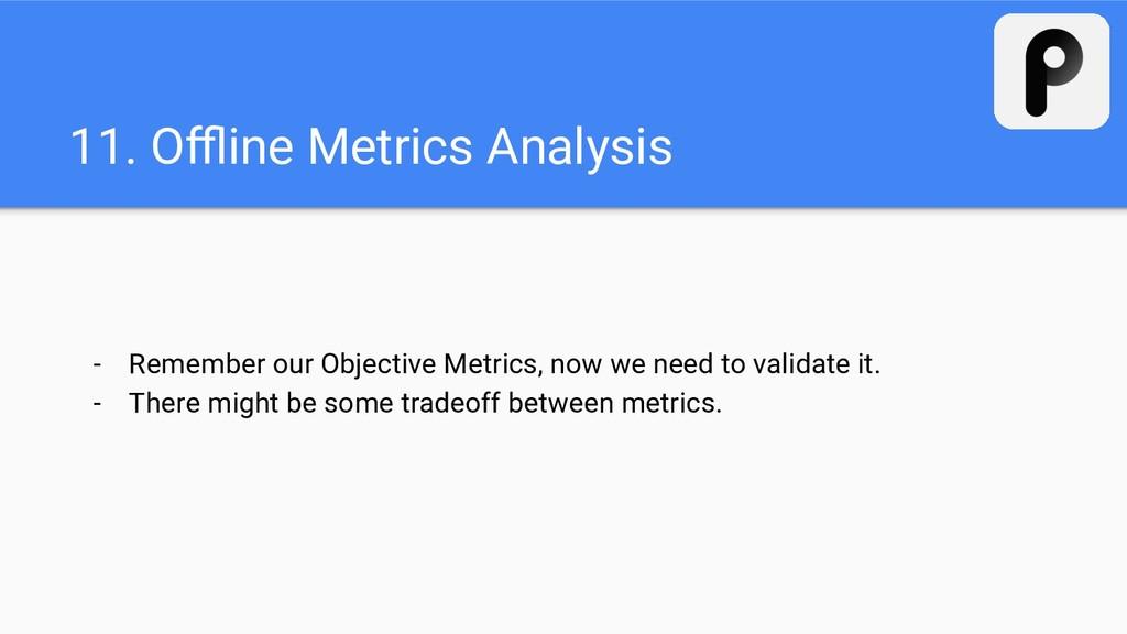 11. Offline Metrics Analysis - Remember our Objec...