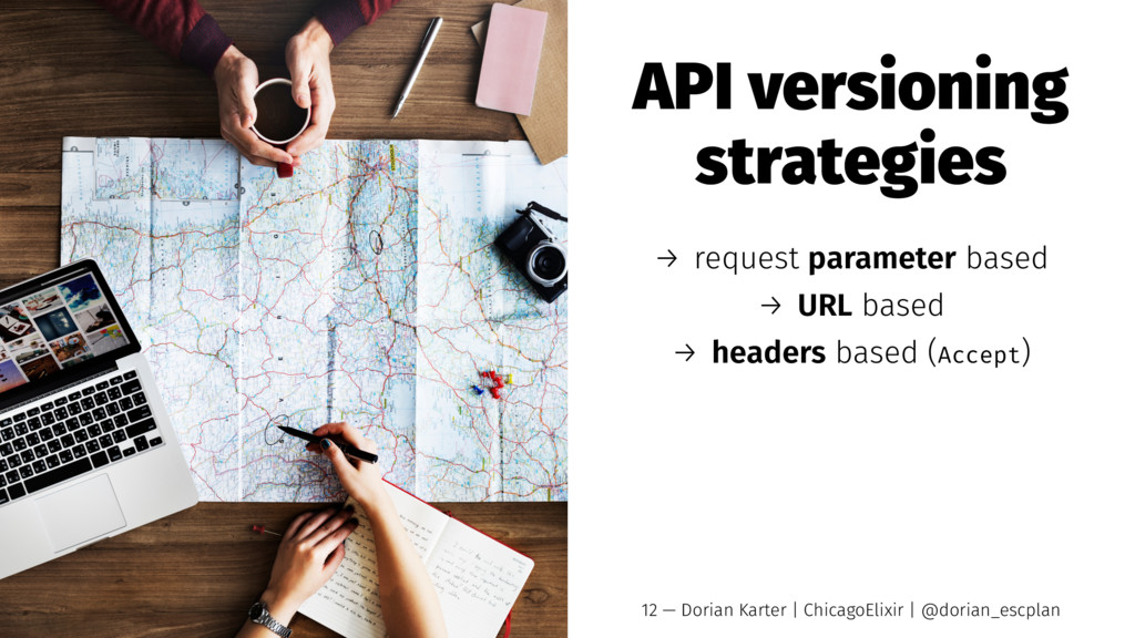 API versioning strategies → request parameter b...