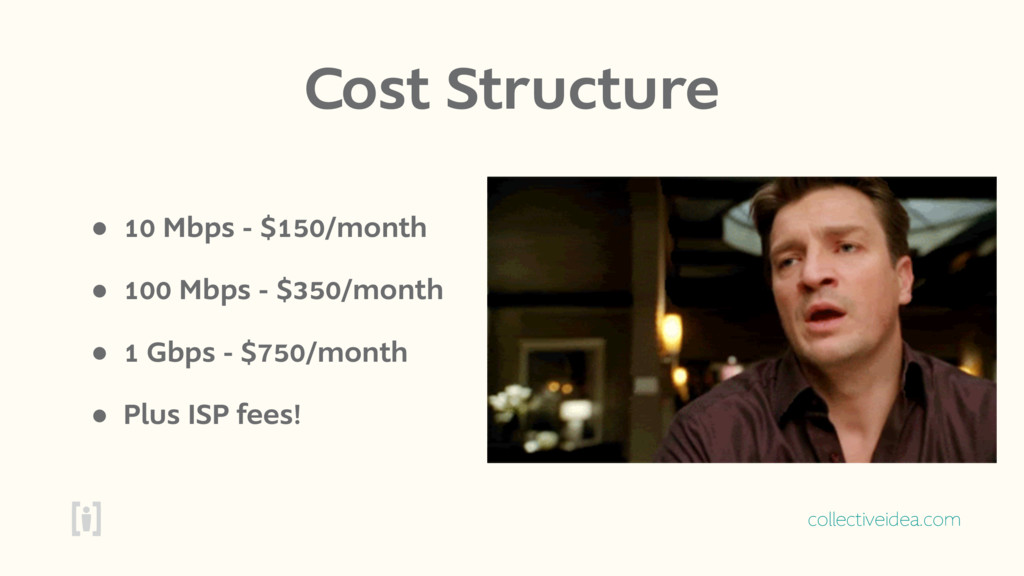collectiveidea.com Cost Structure • 10 Mbps - $...