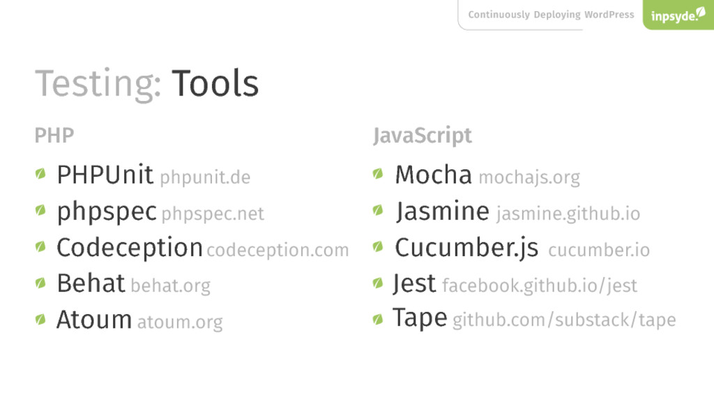 Continuously Deploying WordPress Testing: Tools...