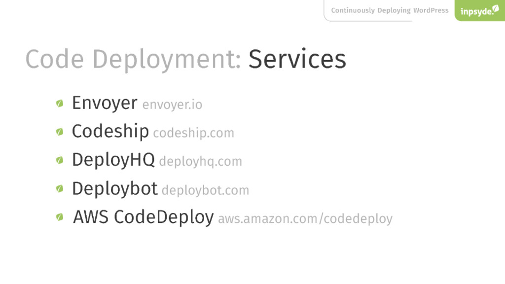 Continuously Deploying WordPress Code Deploymen...