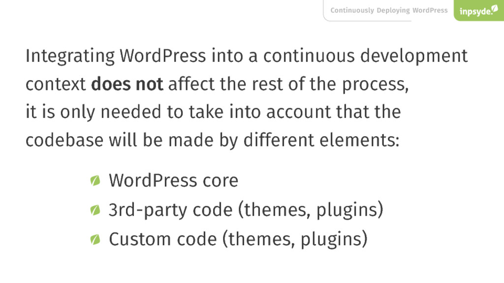 Continuously Deploying WordPress Integrating Wo...