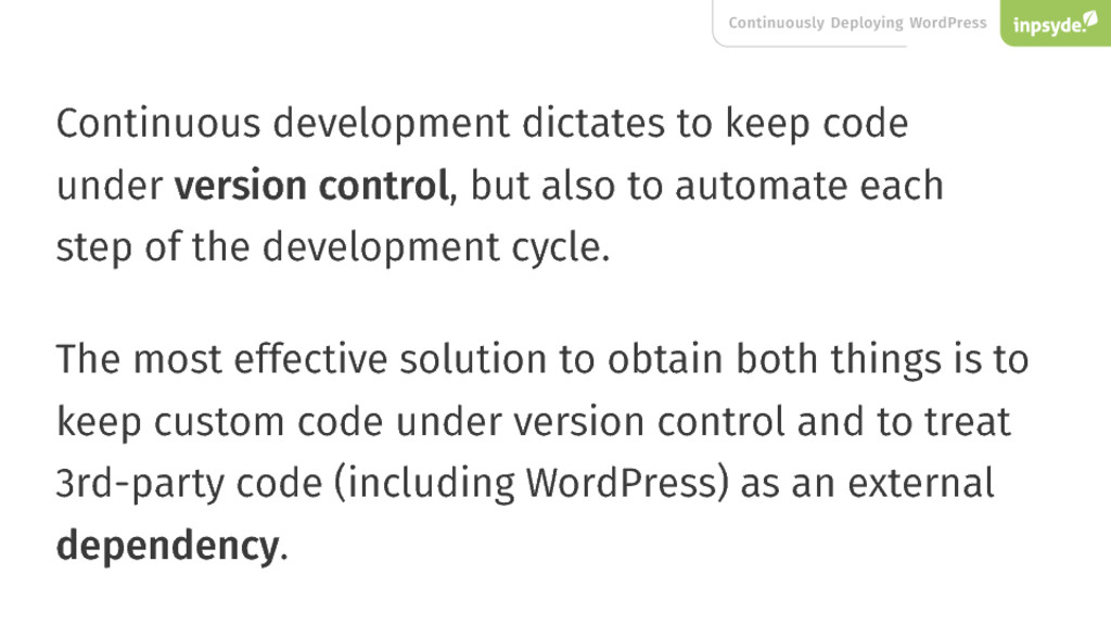 Continuously Deploying WordPress Continuous dev...