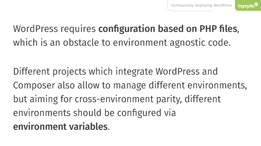 Continuously Deploying WordPress WordPress requ...