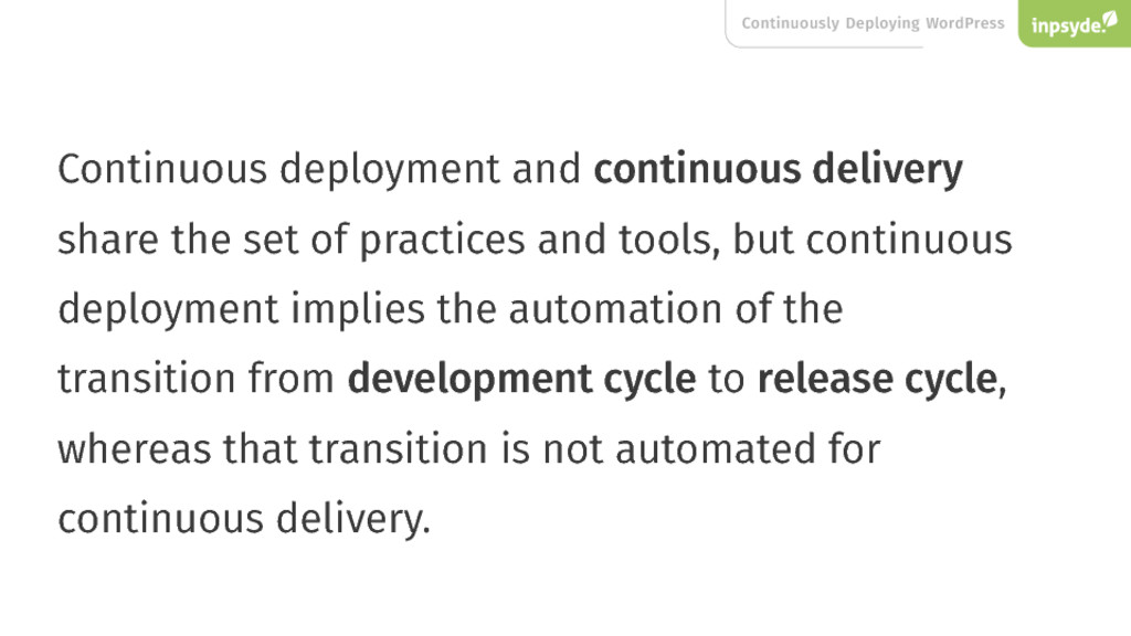 Continuous deployment and continuous delivery s...