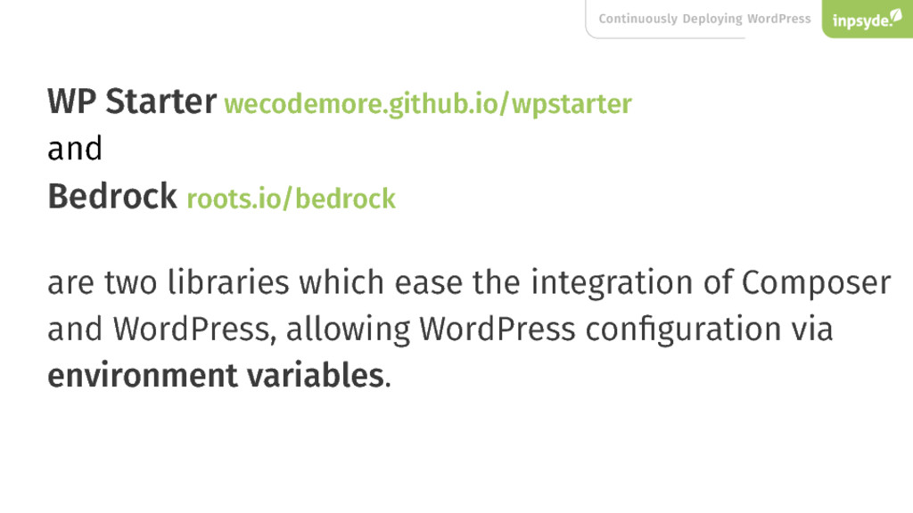 Continuously Deploying WordPress WP Starter wec...