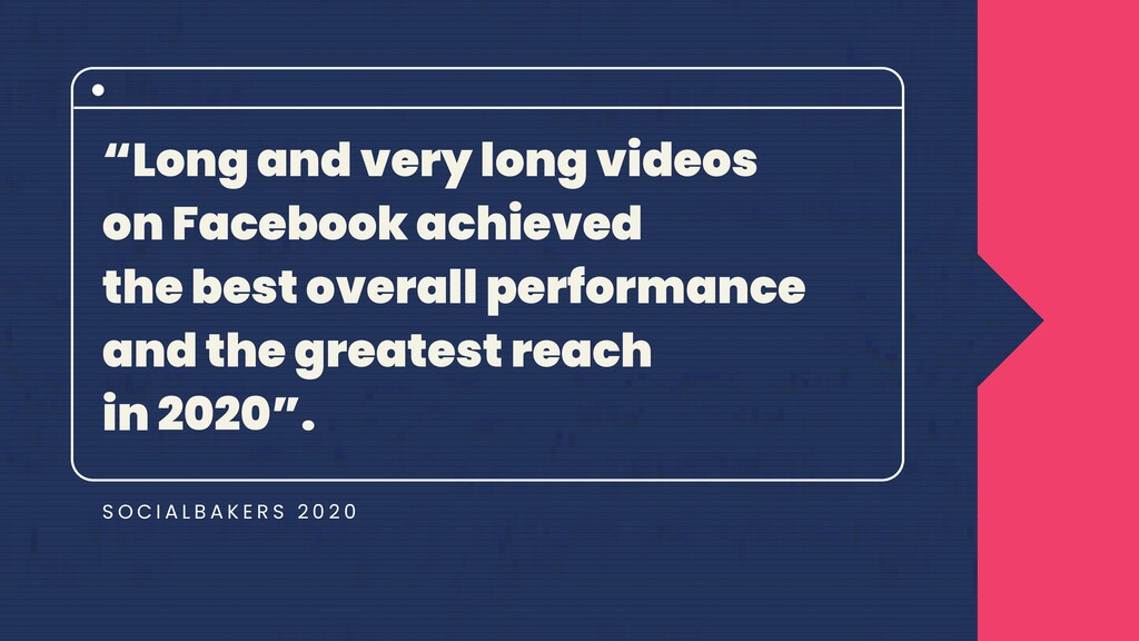 """""""Long and very long videos on Facebook achieved..."""