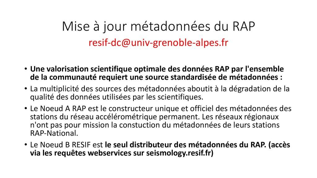 Mise à jour métadonnées du RAP resif-dc@univ-gr...