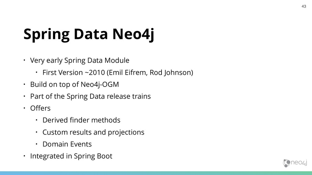 Spring Data Neo4j • Very early Spring Data Modu...