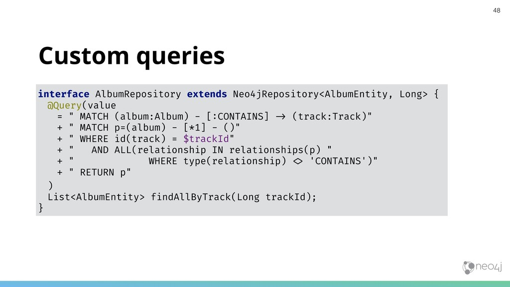 Custom queries interface AlbumRepository extend...