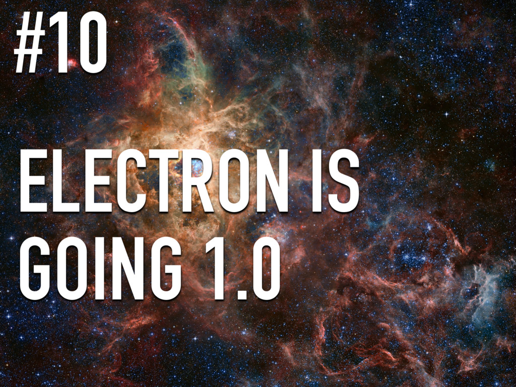 ELECTRON IS GOING 1.0 #10