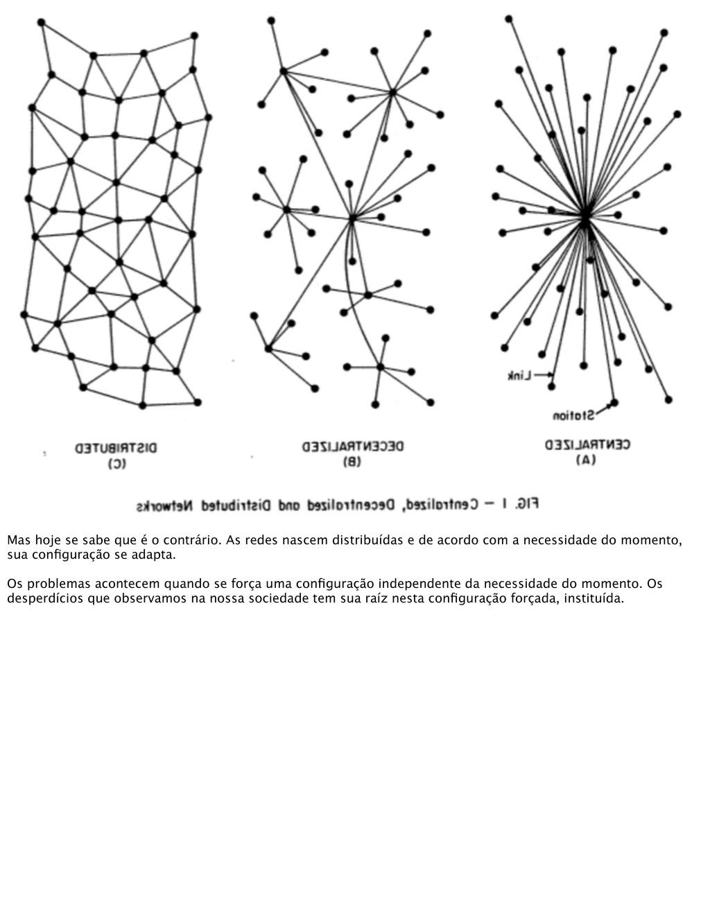 Mas hoje se sabe que é o contrário. As redes na...