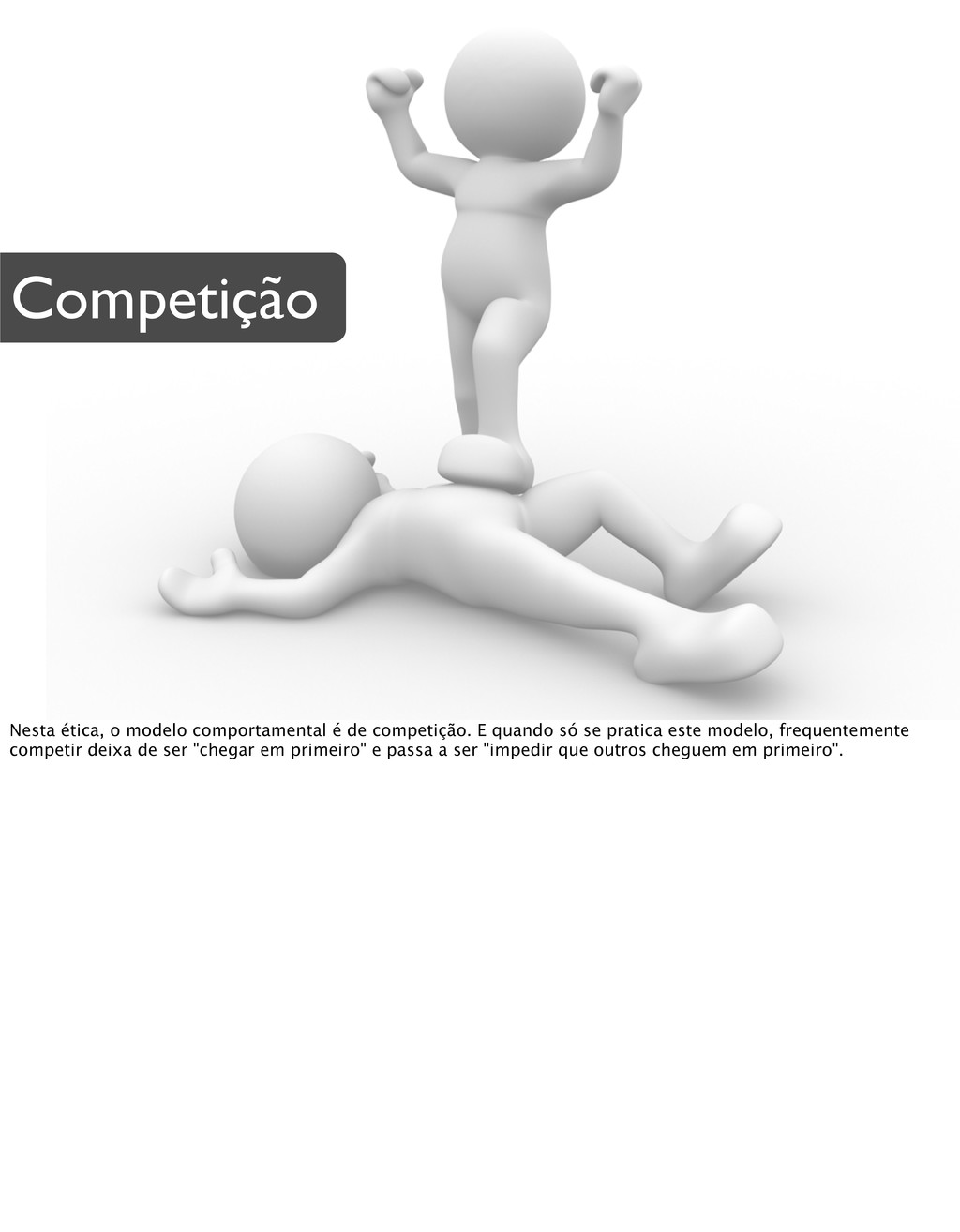 Competição Nesta ética, o modelo comportamental...