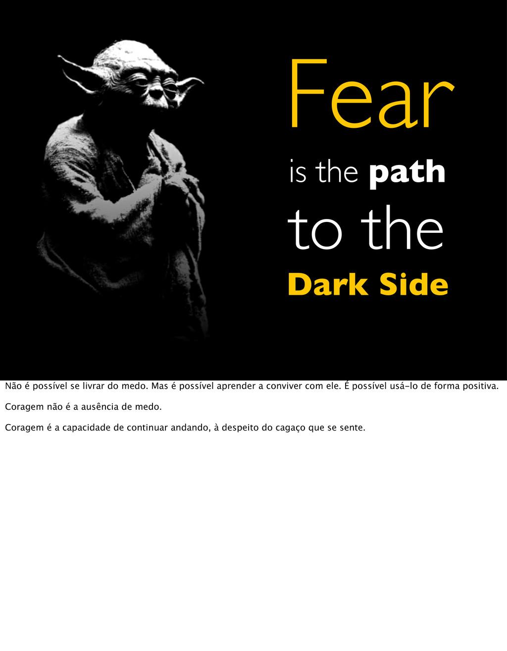 Fear is the path to the Dark Side Não é possíve...