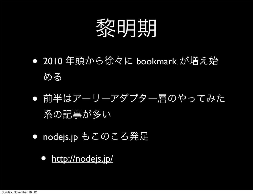 ᴈ໌ظ • 2010 ಄͔Βঃʑʹ bookmark ͕૿͑ ΊΔ • લΞʔϦʔΞμ...