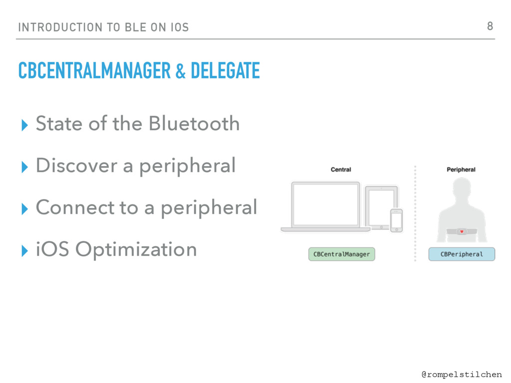 @rompelstilchen INTRODUCTION TO BLE ON IOS CBCE...