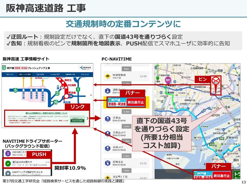 阪神高速道路 工事 13 交通規制時の定番コンテンツに 阪神高速 工事情報サイト バナー ピン...