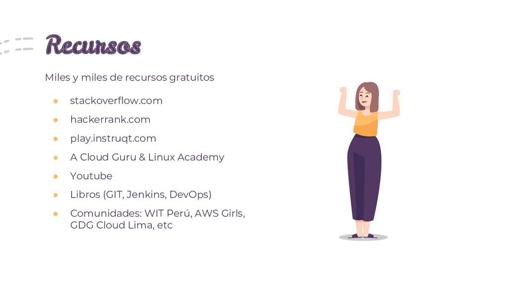 Recursos ● stackoverflow.com ● hackerrank.com ●...